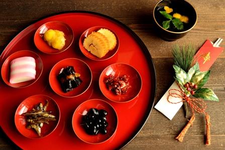 おせち料理と祝箸